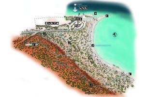 Map showing Wulyibidi Yaninyina trail at Monkey Mia.
